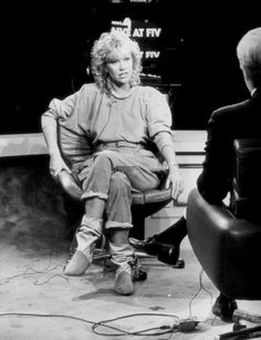 Agnetha on an interview in the US.
