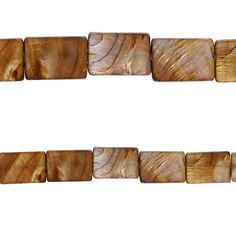 Bead Gallery® Rectangle Shell Beads, Amber