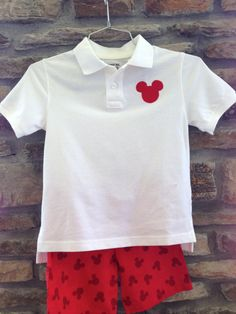 Mickey Mouse outfit for your little boy's trip to by OhSewMagical, $30.00