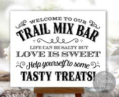 Trail Mix Bar Sign Printable Western Style by PrintablePixels