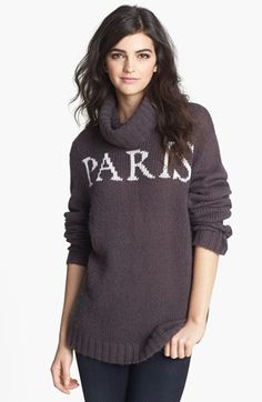 Wildfox 'Paris Seattle' Turtleneck Sweater available at #Nordstrom