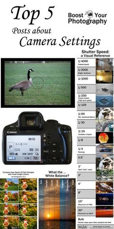 Top 5 Posts about Camera Settings | Boost Your Photography. http://www.boostyourphotography.com/2014/12/top-posts.html