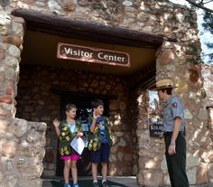 Saying the Junior Ranger pledge at Tuzigoot National Monument. #findyourpark #nps #juniorranger