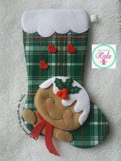Felt Christmas Stockings, Felt Christmas Ornaments, Etsy Christmas, Christmas Fabric, Diy Christmas Ornaments, Christmas Decorations, Christmas Sewing Patterns, Christmas Stocking Pattern, Christmas Projects