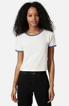 Topshop Contrast Tee available at #Nordstrom
