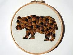 PDF Embroidery Pattern for Geometric Bear by ThreeSilverTrees, £2.50