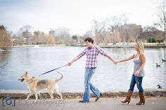Super cute engagement session! Take your dog with you for bonus fun! Nashville Engagement Session