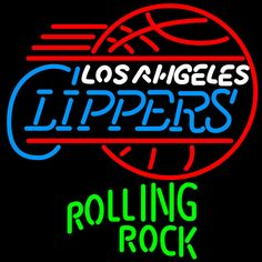 Rolling Rock Los Angeles Clippers NBA Neon Beer Sign, Rolling Rock with NBA Neon Signs | Beer with Sports Signs. Makes a great gift. High impact, eye catching, real glass tube neon sign. In stock. Ships in 5 days or less. Brand New Indoor Neon Sign. Neon Tube thickness is 9MM. All Neon Signs have 1 year warranty and 0% breakage guarantee.