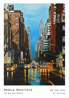 New York Storm, 36 x 48 inches