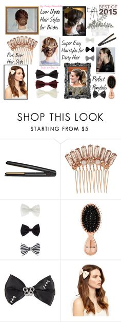 """""""#215 Best of 2015: Hairstyle of the Year"""" by pinky-chocolatte ❤ liked on Polyvore featuring beauty, GHD, Henri Bendel, Accessorize, Sephora Collection and Forever 21"""