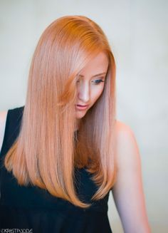 FORMULAS: Rose Gold, Peach, Rose Chocolate & Strawberry BlondeSTRAWBERRY BLONDE Cut and color by Roy Pulido, assisted by Ashley Wilson *On previously highlighted hair Wella Illumina color equal parts 9/43 and 8/05 and 6 vol