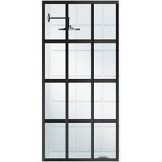 Coastal Shower Doors Gridscape Series to Framed Oil-Rubbed Bronze Fixed Shower Door at Lowe's. The Gridscape series is a multi functional solution that is on the forefront of bathroom interior design trends. This sleek, storefront black factory Coastal Shower Doors, Bathroom Shower Panels, Framed Shower Door, Frameless Shower Doors, Shower Screen, Glass Shower Doors, Upstairs Bathrooms, Master Bathroom, Boy Bathroom