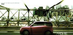 MOVIE Concept car - on the Brooklyn Bridge