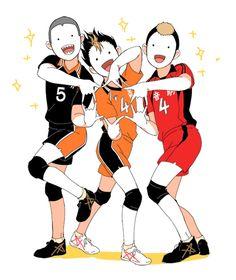 Tanaka Ryuunosuke, Nishinoya Yuu & Yamamoto Taketora - Haikyuu!! / HQ!!