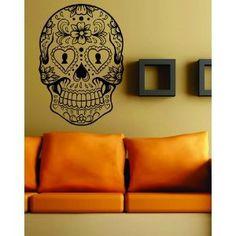 Amazon.com: Sugarskull Version 6 Wall Vinyl Decal Sticker Art Graphic Sticker Sugar Skull: Everything Else