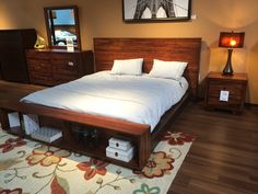 Wood Headboard With Frame And Storage From Living Spaces.