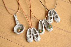 Bellos colgantes a crochet