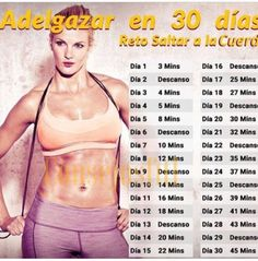 Saltar cuerda, fácil Practico y efectivo Loose Weight, Mens Fitness, Fitness Tips, Fitness Motivation, Health Fitness, Health Club, Body Fitness, Jump Rope Challenge, Workout Challenge