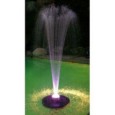 Alpine Floating Spray Fountain with 48 LED Light and 550 GPH Pump | Wayfair