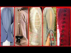 Kurti Sleeves Design, Sleeves Designs For Dresses, Kurti Designs Party Wear, Blouse Neck Designs, Sleeve Designs, Stylish Blouse Design, Fancy Blouse Designs, Stylish Dress Designs, Women's Casual