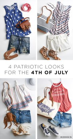 Get ready to look red, white and cute for the most American of all holidays. Show your pride for the good ol' U.S. of A. in stars, stripes and short shorts. Levi's jean shorts, Converse Chuck Taylor All Star sneakers, LC Lauren Conrad flip flops...if it's red, white or blue, it works! Celebrate summer with Kohl's.