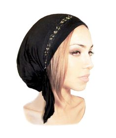 Black Gold Head Scarf Lace Tichel Fancy Ocassions by ShariRoseShop