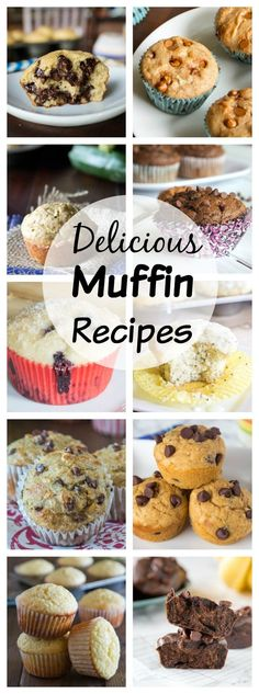 Muffins Recipes - Over 50 muffin recipes for all of your breakfast and snack cravings! Great for the freezer for easy mornings! Banana Bread Recipes, Muffin Tin Recipes, Muffin Tins, Muffin Bread, Cake Recipes, Dessert Recipes, Fun Easy Recipes, Sweet Recipes, Fancy Recipes