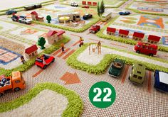 Amazing collection of Play Rugs for boys and girls have special features that will revolutionise the way kids play on the floor. Multi-textured layouts, 3D spaces and colourful designs make these rugs unique. All that's required from the toy box is a few farm animals, cars and dolls.