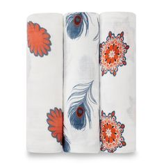 These ever beautiful bamboo swaddling blankets are a super soft addition to your nursery. Made of rayon from bamboo fiber muslin, these swaddles are luxuriously soft which makes them the ideal fabric to use when swaddling your precious baby. Features  Generous sizing (47 x 47 in.) makes swaddling easy Gets softer with every wash Versatile as a swaddling blanket, stroller or nursing cover and wonderful for tummy time Machine washable  Why Swaddle? This age old technique is used to make your…