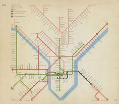 Historical Maps: Man-Made Philadelphia: Transit, 1972