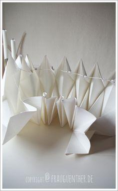 DIY Origami Papierlampe ° Origami Paper Lamp ° Lampe aus Papier falten ° Tutorial