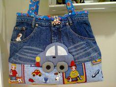 bolsa em ganga para criança