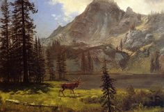 Albert Bierstadt Call of the Wild painting for sale, this painting is available as handmade reproduction. Shop for Albert Bierstadt Call of the Wild painting and frame at a discount of off. Oil Painting For Sale, Paintings For Sale, Oil Painting On Canvas, Oil Paintings, Painting Art, Online Painting, Landscape Art, Landscape Paintings, Landscapes