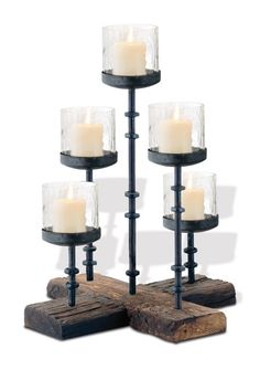 Mountain House Cross Base Pillar Candle Stand by Never Ordinary Vintage Market Decor on @HauteLook