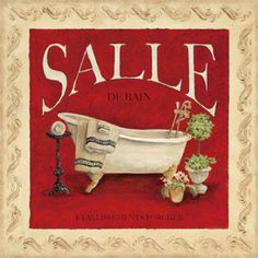 Salle de Bain Print by Charlene Winter Olson at Art.com