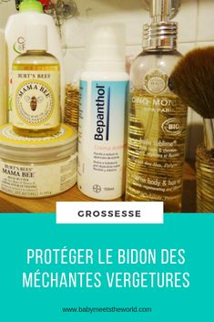 Protéger le bidon des méchantes vergetures | Grossesse – Babymeetstheworld - Blog maman - Blog Voyages Blog Voyage, Shampoo, Personal Care, Bottle, I Will Protect You, Rose Oil, Survival Life Hacks, Breast Feeding, Can