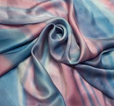Hand painting Silk Scarf Pink sunset
