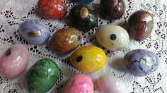 Vintage Italian alabaster eggs