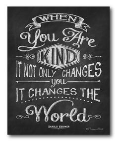 Yes. (Would be awesome to hang by the front door so your family would see it every single day.) :: 'When You Are Kind' Canvas Wall Art