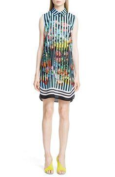 MARY KATRANTZOU Print Silk Sleeveless Shirtdress. #marykatrantzou #cloth #