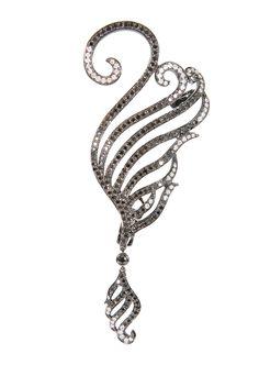 Gaydamak Earrings :: Gaydamak black gold, black diamonds and white diamonds earring | Montaigne Market