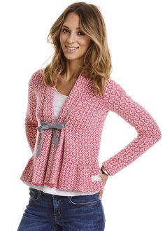Odd Molly Cardigan pink mønster 117M-654 Canna Cardigan - hot pink