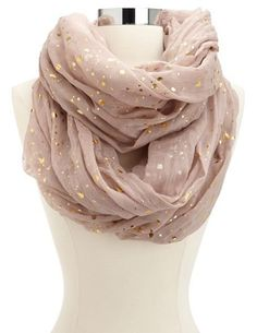 METALLIC DOT INFINITY SCARF