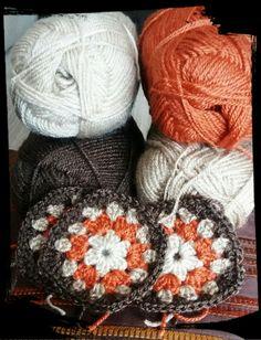 Grannys squares para manta de sofa
