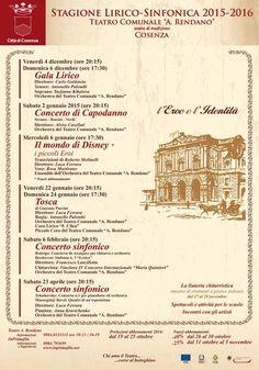 Stagione Lirico-Sinfonica del Teatro Rendano