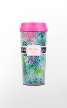 Now you can take your cup of joe to go in this colorful Lilly Pulitzer Thermal Mug! The pink lid makes it ever cuter than it is convenient, and the styling of this travel mug will fill you with cheer as you sip your coffee, tea or cocoa. If you
