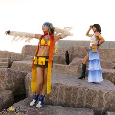 Cosplay at Oni-con 2012 in Galveston, TX. We are cosplaying Yuna and Rikku from Final Fantasy X-2. #yuna #rikku #cosplay