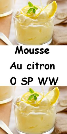 Here is a nice recipe for lemon mousse. It's a light and airy dessert. This mousse recipe is made with lemon juice, eggs and powdered sugar. It is therefore a light foam and easy to make. It can thus accompany your gourmet desserts and snacks. Mousse Dessert, Cheesecake Mousse Recipe, Cheesecake Recipes, Desserts With Biscuits, Gourmet Desserts, Dessert Recipes, Lemon Recipes, Tart Recipes, Healthy Recipes