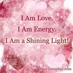 Affirmation - I Am (Louise Hay). #LouiseHay #affirmation