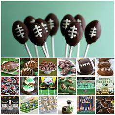 21 Football Themed Desserts - Something Swanky-Super Bowl idea! Football Desserts, Football Treats, Football Cupcakes, Football Food, Football Birthday, Football Recipes, Football Decor, Football Parties, Sports Birthday
